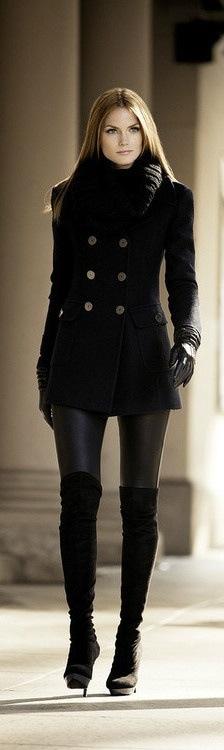 black coat women