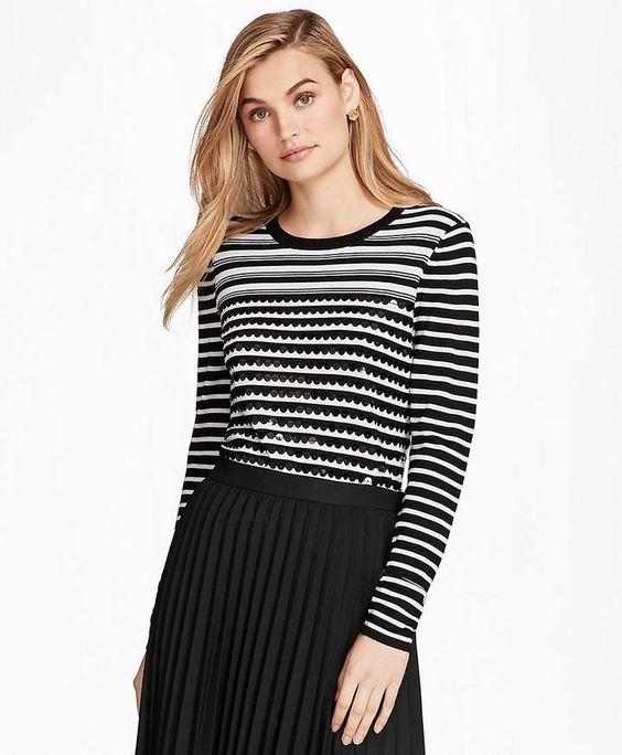 white strip